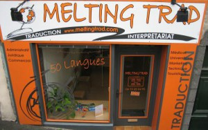 Devanture agence Melting Trad - Traductions et interpretariats